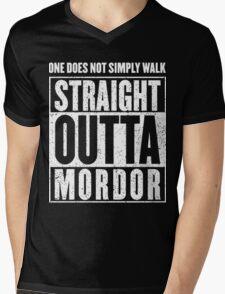 Straight Outta Mordor Quotes Mens V-Neck T-Shirt