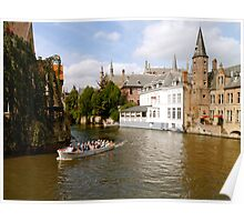 Canal in Bruges, Belgium Poster