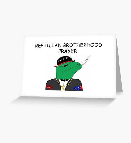 Leafy reptilian 3 Greeting Card