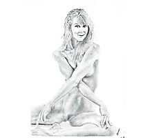 Joceline (pen and ink) drawing Photographic Print