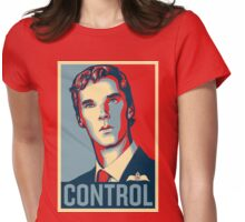 CONTROL Beige/PastelBlue/DarkBlue Womens Fitted T-Shirt