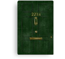 221B Door Canvas Print
