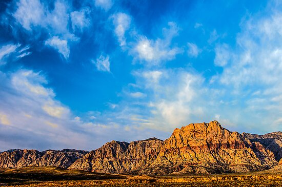 Red Rock Canyon - 'Neath a Blue, Blue Sky by Greg Summers