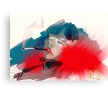smoking queen Canvas Print