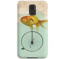 unicycle goldfish Samsung Galaxy Case/Skin