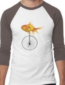 unicycle goldfish Men's Baseball ¾ T-Shirt
