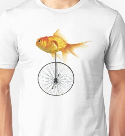 unicycle goldfish Unisex T-Shirt