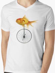 unicycle goldfish Mens V-Neck T-Shirt