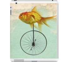 unicycle goldfish iPad Case/Skin