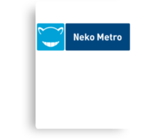 Neko Metro Canvas Print