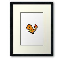 Pixel Charmander Framed Print