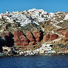 Approaching Santorini by Mitchell Grosky