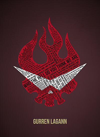 Gurren Lagann typography by Matthew James