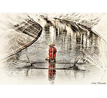 Canal Fishing Photographic Print