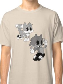 Retro cartoon Sonic Classic T-Shirt