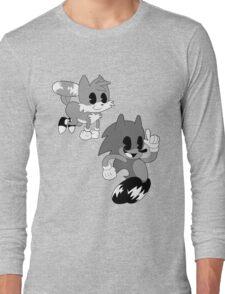 Retro cartoon Sonic Long Sleeve T-Shirt