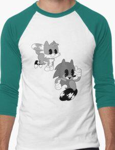 Retro cartoon Sonic Men's Baseball ¾ T-Shirt