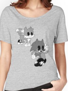 Retro cartoon Sonic Women's Relaxed Fit T-Shirt