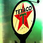 Old Texaco Gas Station Sign by Jacin