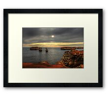 Great Ocean Road Rocks Framed Print