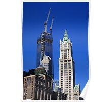 Freedom Tower and Woolworth Building Poster