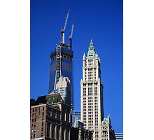 Freedom Tower and Woolworth Building Photographic Print