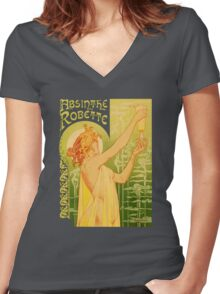 absinthe robette II Women's Fitted V-Neck T-Shirt