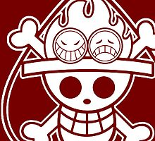 【1000+ views】ONE PIECE: Jolly Roger of Ace by Ruo7in