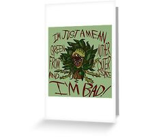 Little Shop of Horrors Audrey 2 Design Greeting Card