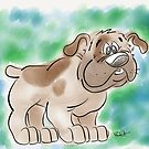 Cartoon Bulldog by rmcbuckeye