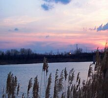 Quarry Sunset by CanoeComsArt