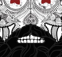 Skull Beard Sticker
