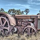 early 1900&#x27;s tractor retired by outbacksnaps