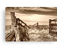 wooden country style fence Canvas Print