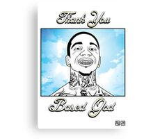 Thank You Based God Canvas Print