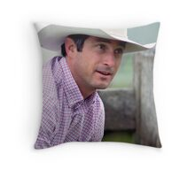 Weekend Cowboy Throw Pillow