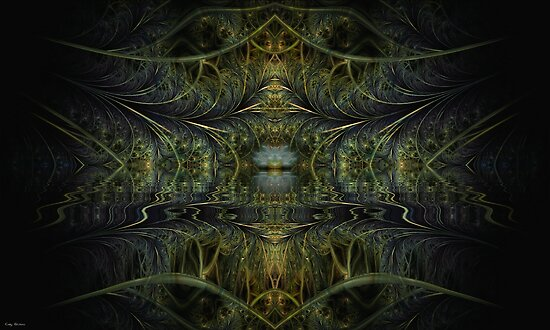 Jewel in The Water Garden by Craig Hitchens - Spiritual Digital Art