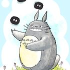 Juggling Totoro by FluffyBusStudio