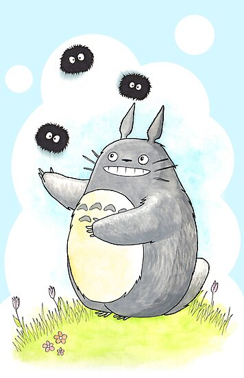 Juggling Totoro by FluffyBusStudio