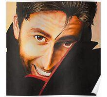 David Tennant Oil Painting Poster