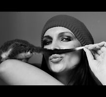 I look good with a moustache ..yes ? by Trudi Hipworth