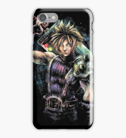 EPIC CLOUD STRIFE FINAL FANTASY VII PORTRAIT iPhone Case/Skin