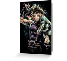 EPIC CLOUD STRIFE FINAL FANTASY VII PORTRAIT Greeting Card