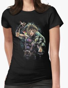 EPIC CLOUD STRIFE FINAL FANTASY VII PORTRAIT Womens Fitted T-Shirt