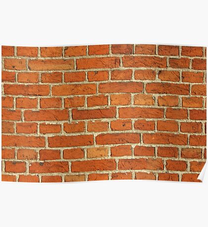 Red Bricks Wall Background Poster
