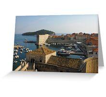 Dubrovnik old Town Harbor Greeting Card