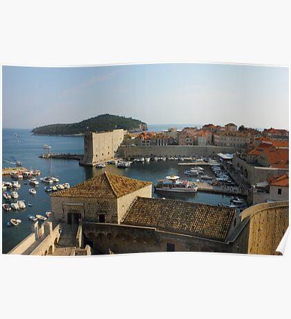 Dubrovnik old Town Harbor Poster