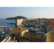 Dubrovnik old Town Harbor Photographic Print