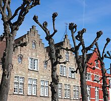 Typical Bruges Facades by kirilart