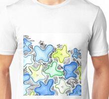 Blue Green Flowers Unisex T-Shirt